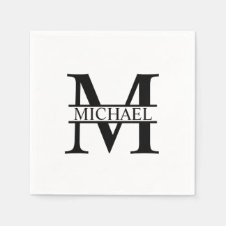 Personalized Monogram and Name Paper Serviettes