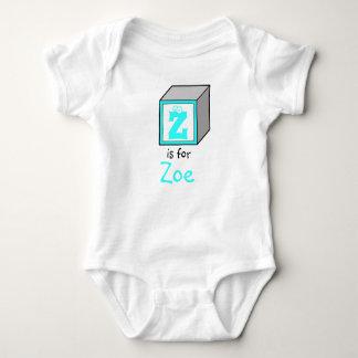 Personalized Monogram Baby Alphabet Block Baby Bodysuit
