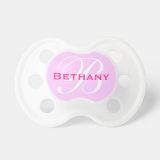 Personalized Monogram Custom Initial Name Girl Baby Pacifiers