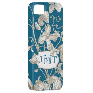 Personalized Monogram, Flowering Vine Botanical Case For The iPhone 5