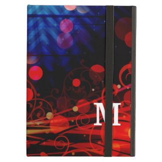 Personalized Monogram Funky Light Rays Abstract iPad Air Cases