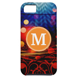 Personalized Monogram Funky Light Rays Abstract iPhone 5 Covers