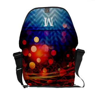 Personalized Monogram Funky Light Rays Abstract Commuter Bag