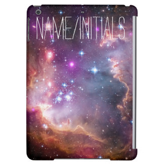 Personalized Monogram Galactic Outer Space Purple iPad Air Cover
