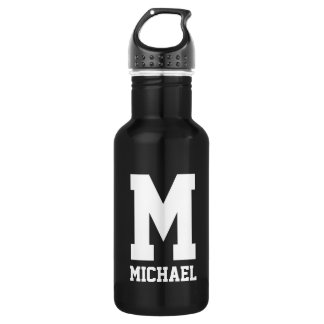 Personalized monogram gift sports water bottle