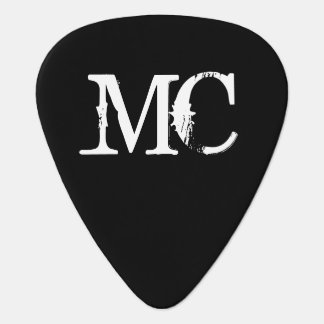 Personalized monogram guitar pick with initials