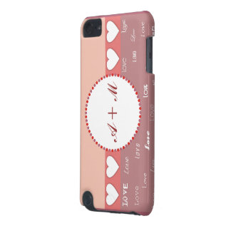 Personalized Monogram Hearts iPod Touch Covers