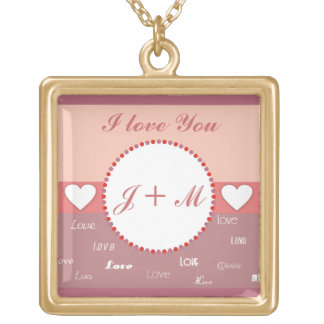 Personalized Monogram I Love You Necklace
