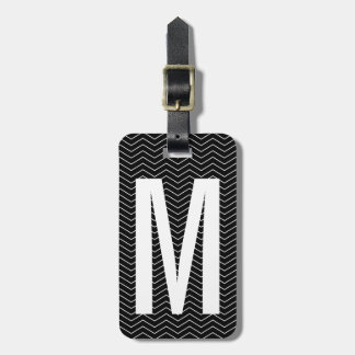 Personalized monogram letter travel luggage tag