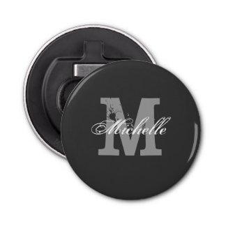 Personalized monogram magnetic beer bottle opener button bottle opener