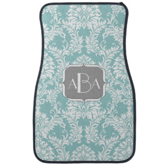 Personalized Monogram Modern Damask Any Color Car Mat
