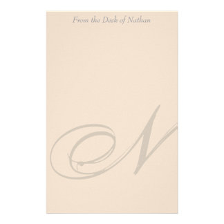 Personalized Monogram N Stationery