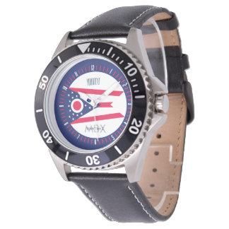 Personalized Monogram Ohio State Flag Watch Design
