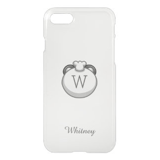 Personalized Monogram Panda | Elegant White iPhone 7 Case