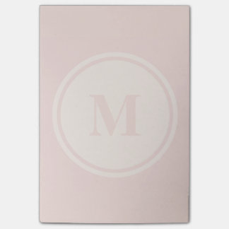 personalized monogram peach post-it notes