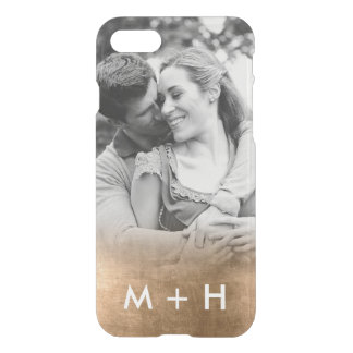 Personalized Monogram Photo Gold Fade iphone 7 iPhone 7 Case