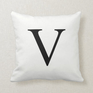 Personalized Monogram Pillow | Initial V