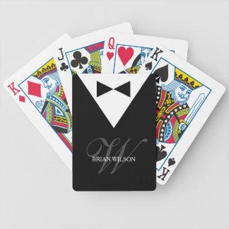 Personalized Monogram Poker Playing Cards | Tuxedo