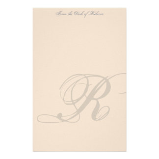 Personalized Monogram Stationery