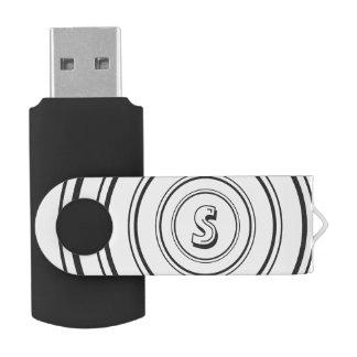 Personalized Monogram Swivel USB 2.0 Flash Drive