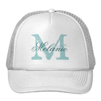 Personalized monogram trucker hat for bridesmaids