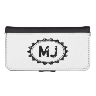 Personalized monogram wallet case with initials