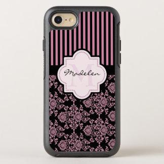 Personalized monogramed damask OtterBox symmetry iPhone 8/7 case