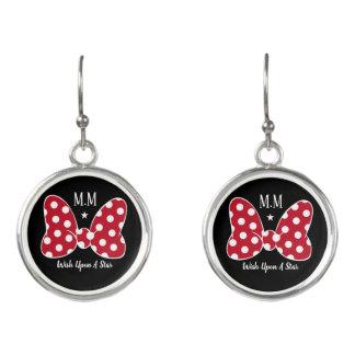 Personalized/Monogrammed Polka Dot Bows Earrings