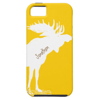 Personalized Moose Yellow Changes to Any Color Case For The iPhone 5