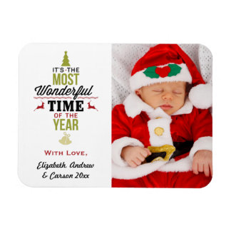 Personalized Most Wonderful Time of the Year Photo Magnet
