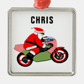personalized motorcyclist collectible metal ornament