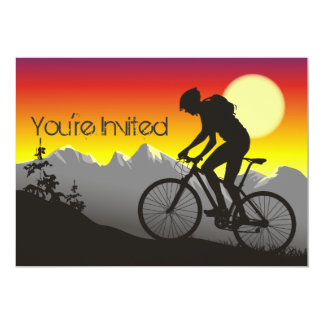 Personalized Mountain Bike Biker Birthday Invite