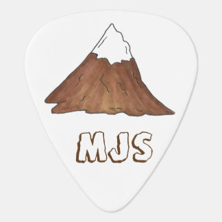 Personalized Mountain Climbing Camping Mountains Plectrum
