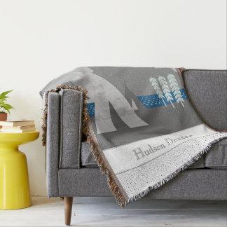 Personalized Mountain Teepee Blanket Throw