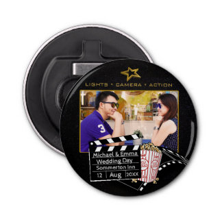 Personalized Movie Star Frame Bottle Opener