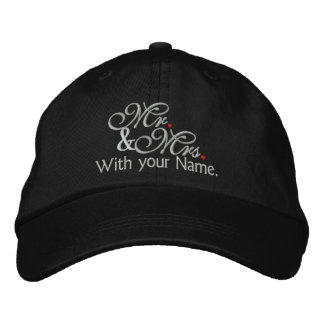Personalized Mr. and Mrs. Husband Wife His Hers Embroidered Baseball Cap