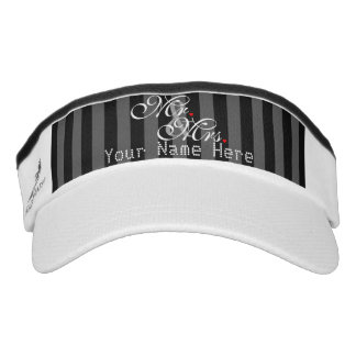 Personalized Mr. and Mrs. Husband Wife His Hers Visor