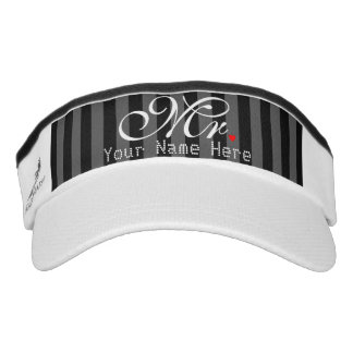 Personalized Mr. Husband Groom His Hers Newly Weds Visor
