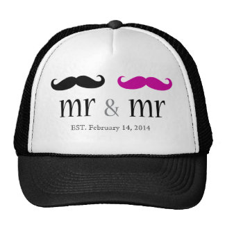 Personalized Mr & Mr Mustache Trucker Hat