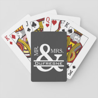 Personalized Mr & Mrs Gray Playing Cards