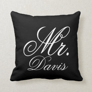 Personalized Mr. Throw Pillow