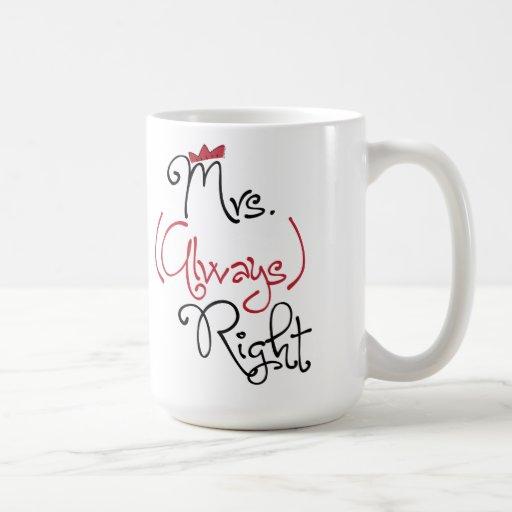 Personalized Mrs. Always Right Mug