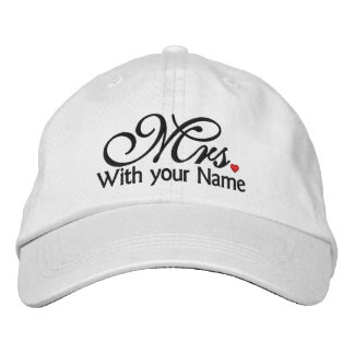 Personalized Mrs. Wife Bride His Hers Newly Weds Embroidered Hat