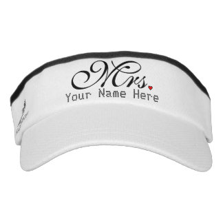 Personalized Mrs. Wife Bride His Hers Newly Weds Visor