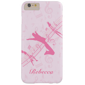Personalized Music Dance and Drama Pink Barely There iPhone 6 Plus Case