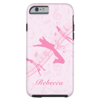 Personalized Music Dance and Drama Pink Tough iPhone 6 Case