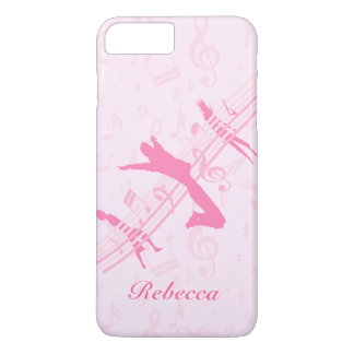 Personalized Music Dance and Drama Pink iPhone 7 Plus Case