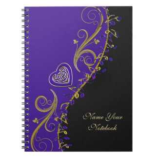 Personalized Music Notes Celtic Heart Notebook
