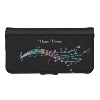 Personalized Music Rainbow Staff Wallet Phone Case