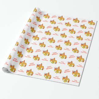 Personalized Musical Cajun Crawfish Fleur de Lis Wrapping Paper